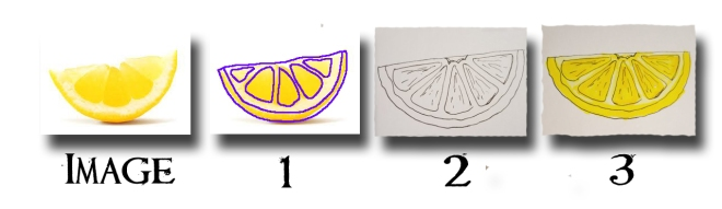 How to draw lemon